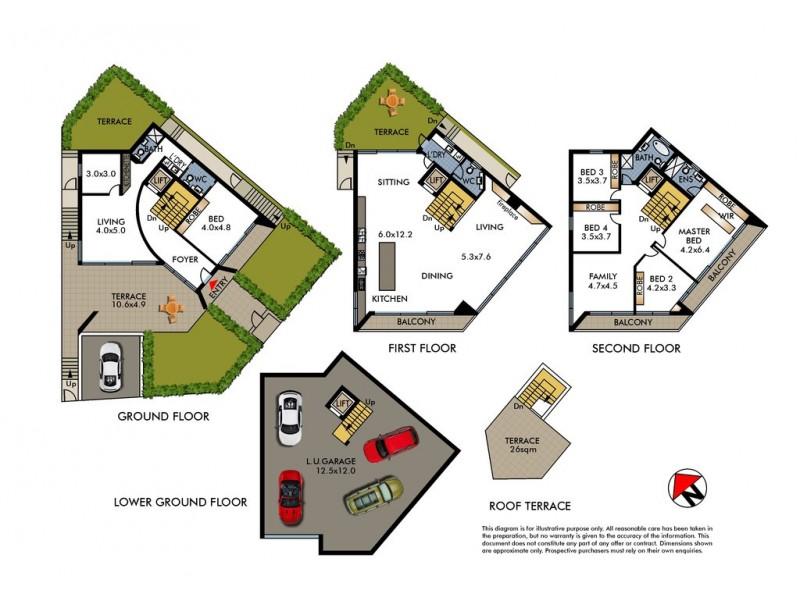 11 Loombah Road, Dover Heights NSW 2030 Floorplan