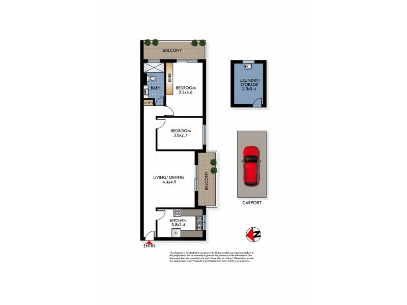 9/22 Flood Street, Bondi NSW 2026 Floorplan