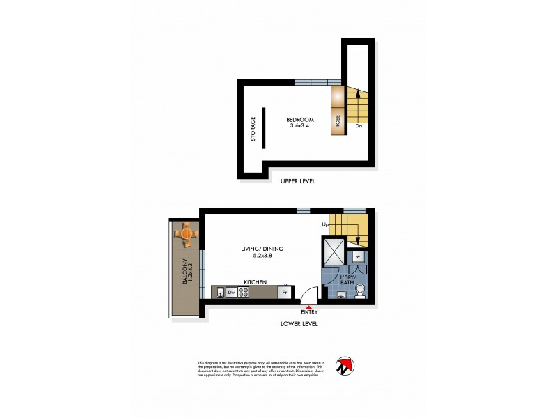 8/9 Brighton Boulevard, Bondi Beach NSW 2026 Floorplan
