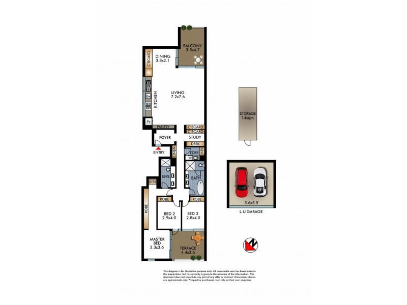 15/178 Campbell Parade, Bondi Beach NSW 2026 Floorplan