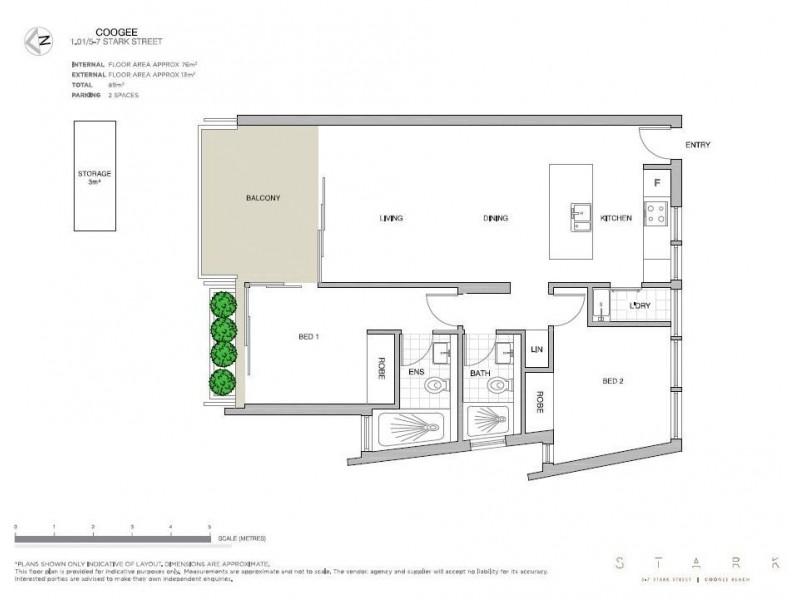 1.01/5-7 Stark Street, Coogee NSW 2034 Floorplan