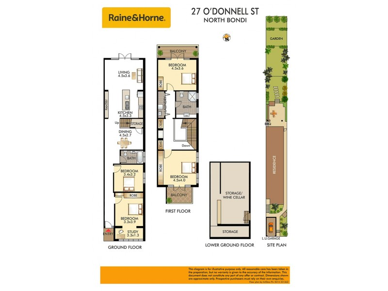 27 O'Donnell Street, North Bondi NSW 2026 Floorplan
