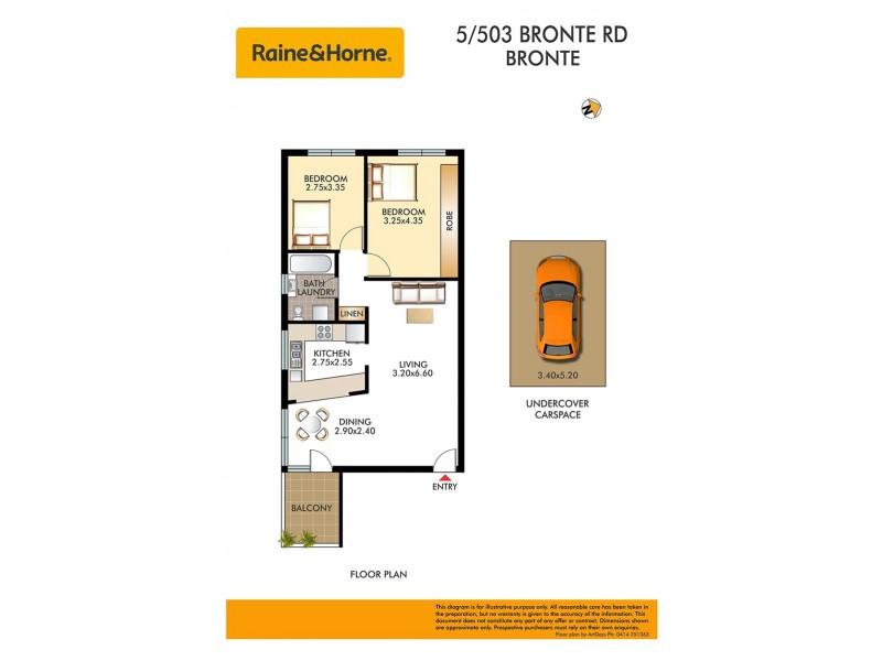 5/503 Bronte Road, Bronte NSW 2024 Floorplan