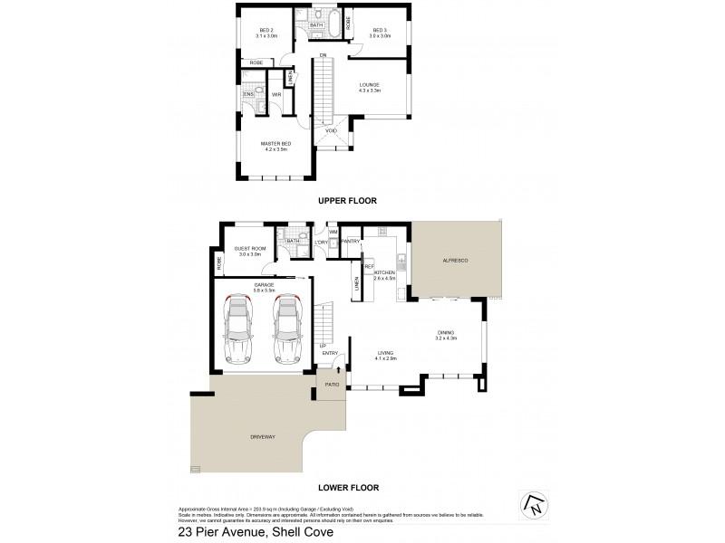 23 Pier Avenue, Shell Cove NSW 2529 Floorplan
