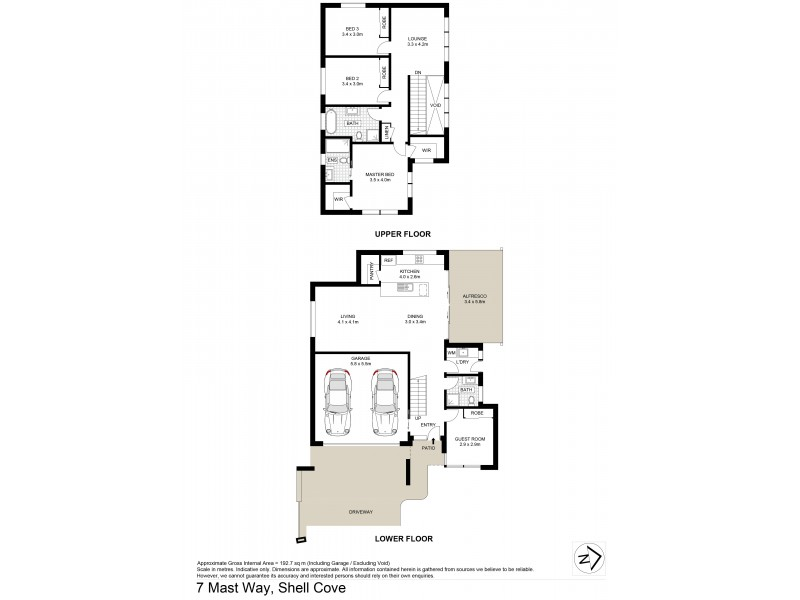 7 Mast Way, Shell Cove NSW 2529 Floorplan