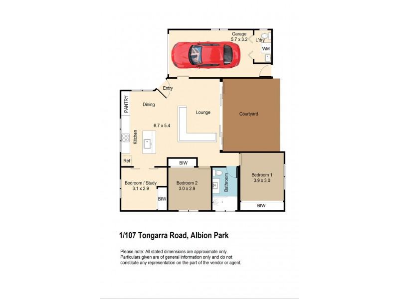 1/107 Tongarra Road, Albion Park NSW 2527 Floorplan