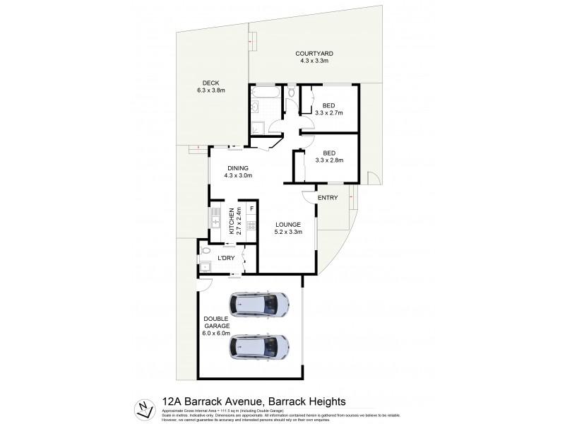 12A Barrack Avenue, Barrack Heights NSW 2528 Floorplan