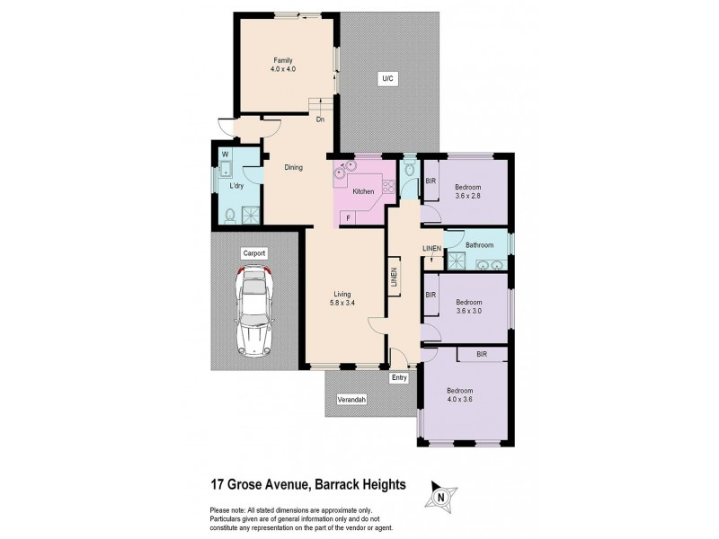 17 Grose Avenue, Barrack Heights NSW 2528 Floorplan