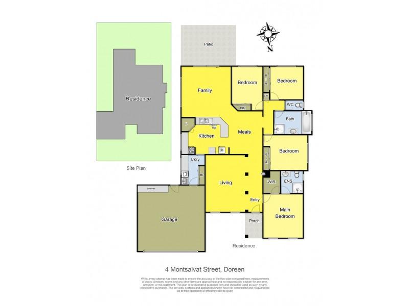4 Montsalvat Street, Doreen VIC 3754 Floorplan