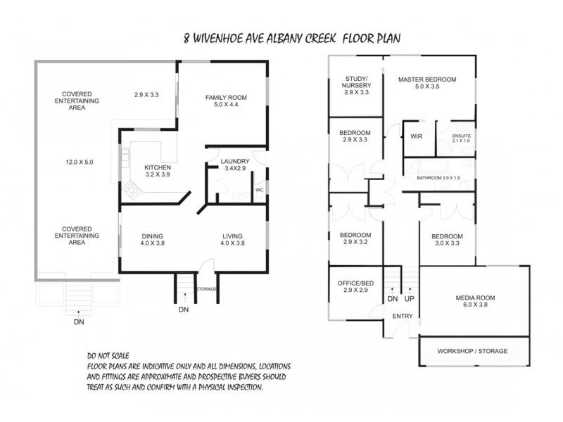 8 Wivenhoe Avenue, Albany Creek QLD 4035 Floorplan