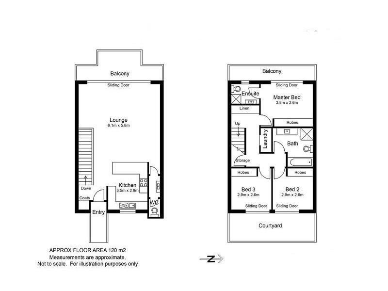 2/188 Gertrude Street, North Gosford NSW 2250 Floorplan