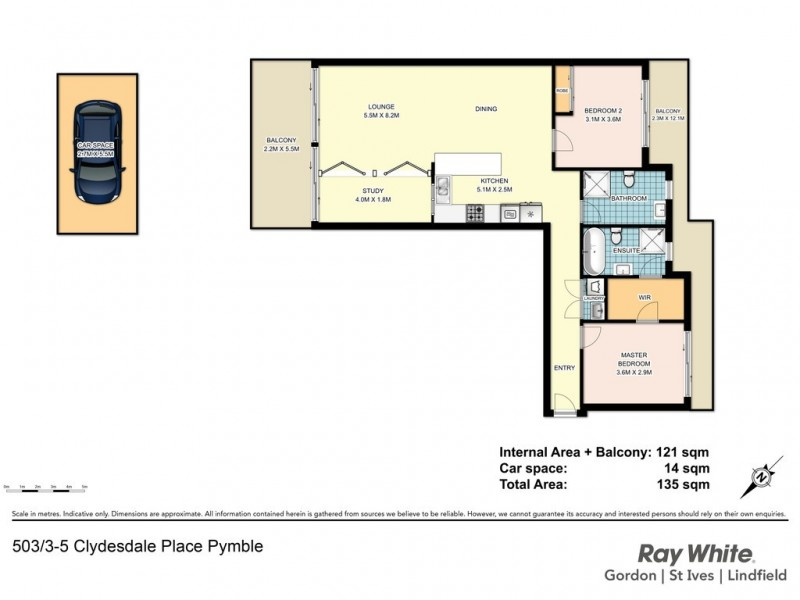 503/3-5 Clydesdale Place, Pymble NSW 2073 Floorplan