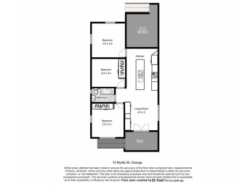 14 Myrtle Street, Grange QLD 4051 Floorplan