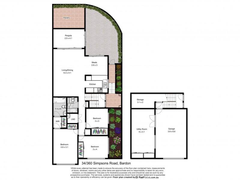 34/360 Simpsons Road, Bardon QLD 4065 Floorplan