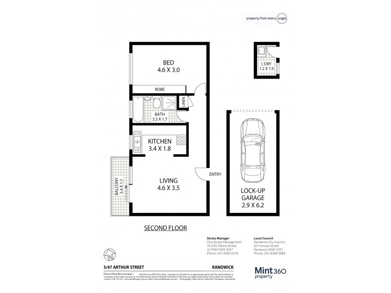 5/47 Arthur Street, Randwick NSW 2031 Floorplan
