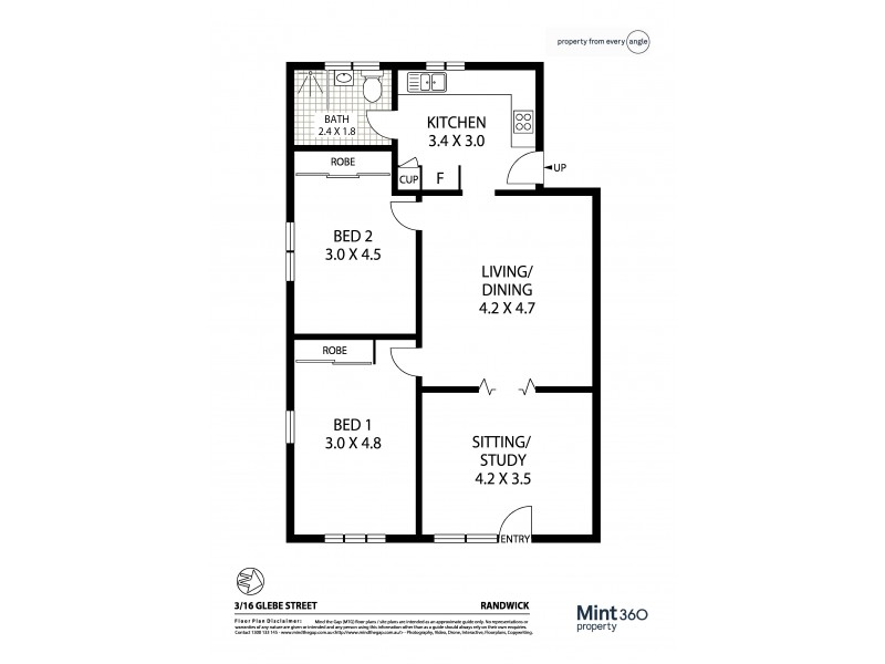 3/16 Glebe Street, Randwick NSW 2031 Floorplan
