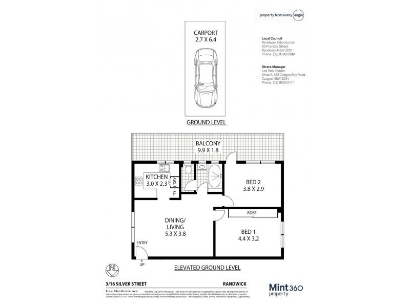 3/16 Silver Street, Randwick NSW 2031 Floorplan