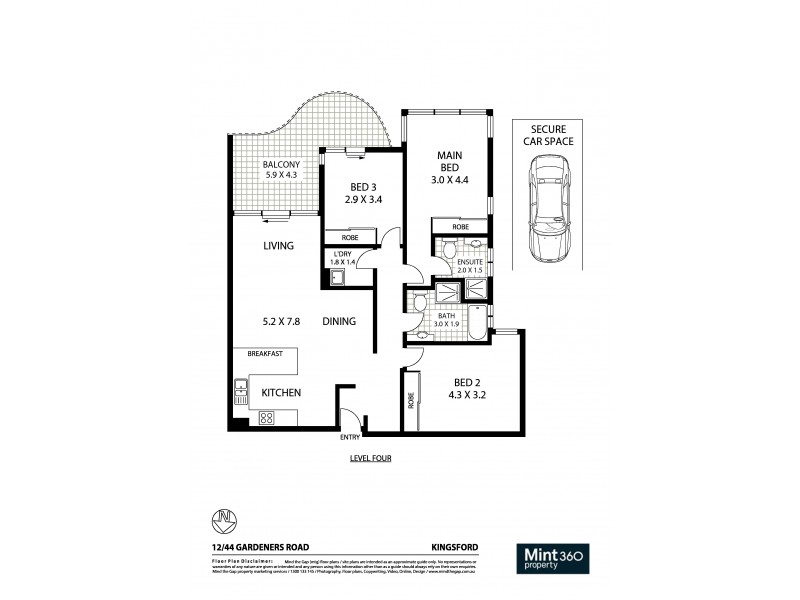 12/44-50 Gardeners Road, Kingsford NSW 2032 Floorplan
