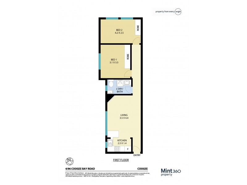 4/96 Coogee Bay Road, Coogee NSW 2034 Floorplan