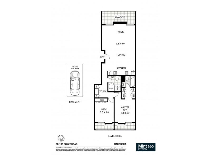 6B/125 Boyce Road, Maroubra NSW 2035 Floorplan