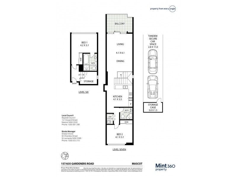 157/635 Gardeners Road, Mascot NSW 2020 Floorplan