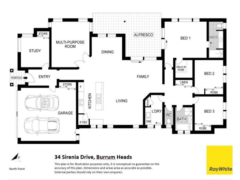 34 Sirenia Drive, Burrum Heads QLD 4659 Floorplan