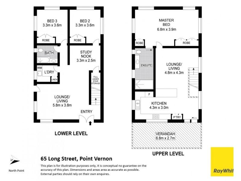 65 Long Street, Point Vernon QLD 4655 Floorplan