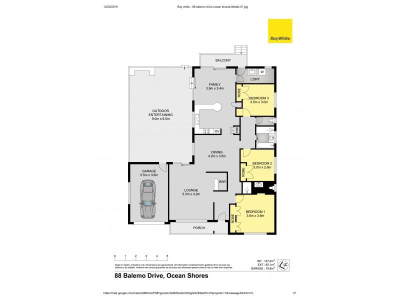 88 Balemo Drive, Ocean Shores NSW 2483 Floorplan
