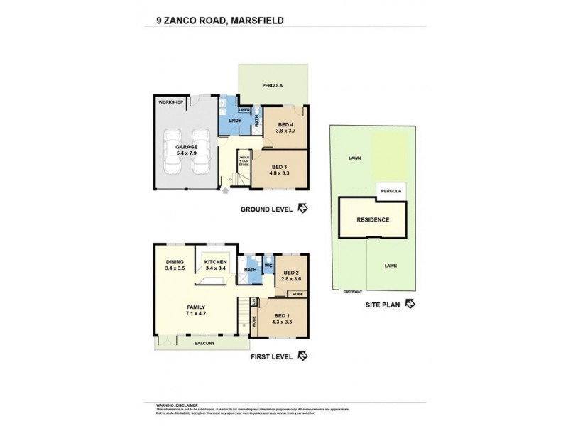 9 Zanco Road, Marsfield NSW 2122 Floorplan