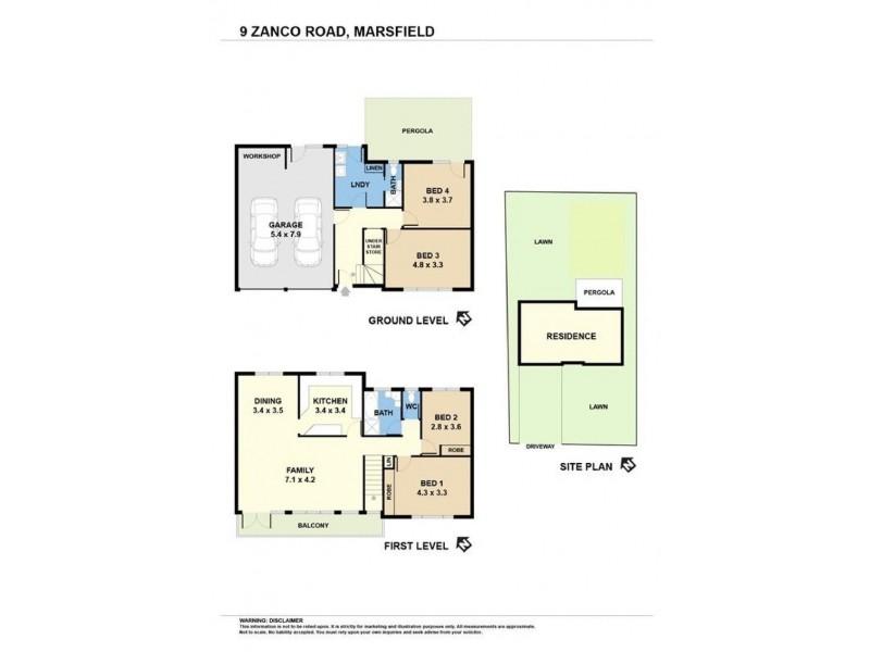 9 Zanco Road, Marsfield NSW 2122 Floorplan