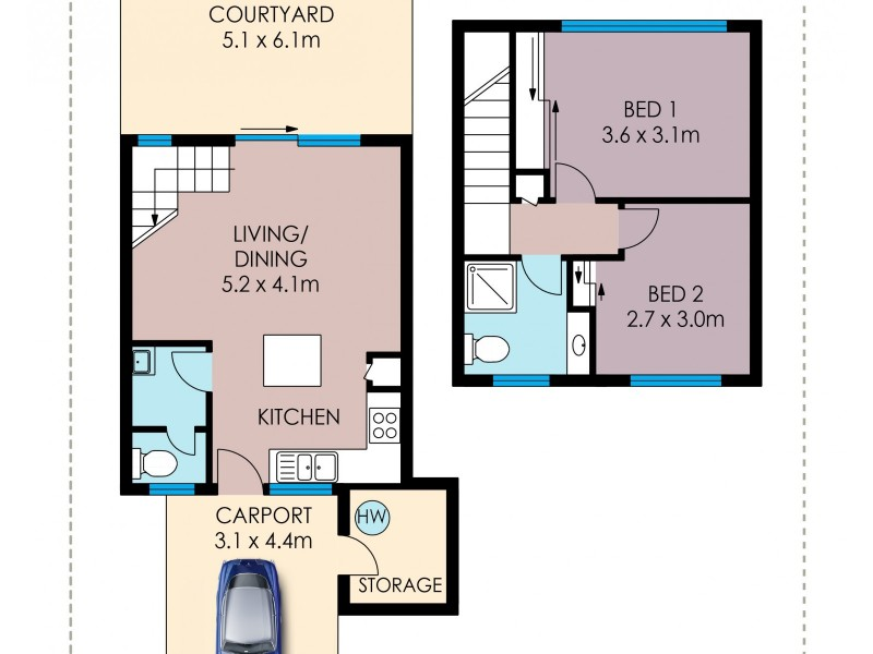 9/22 Marks Street, Hermit Park QLD 4812 Floorplan