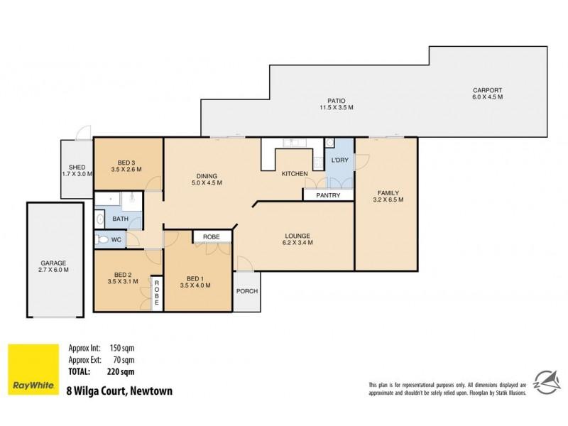 8 Wilga Court, Newtown QLD 4350 Floorplan