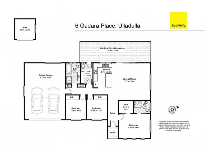 6 Gadara Place, Ulladulla NSW 2539 Floorplan