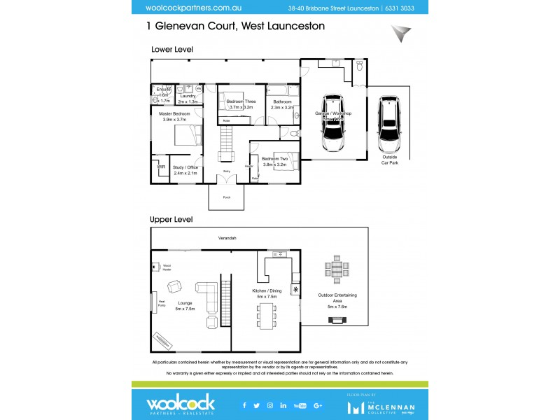 1 Glenevan Crt, West Launceston TAS 7250 Floorplan