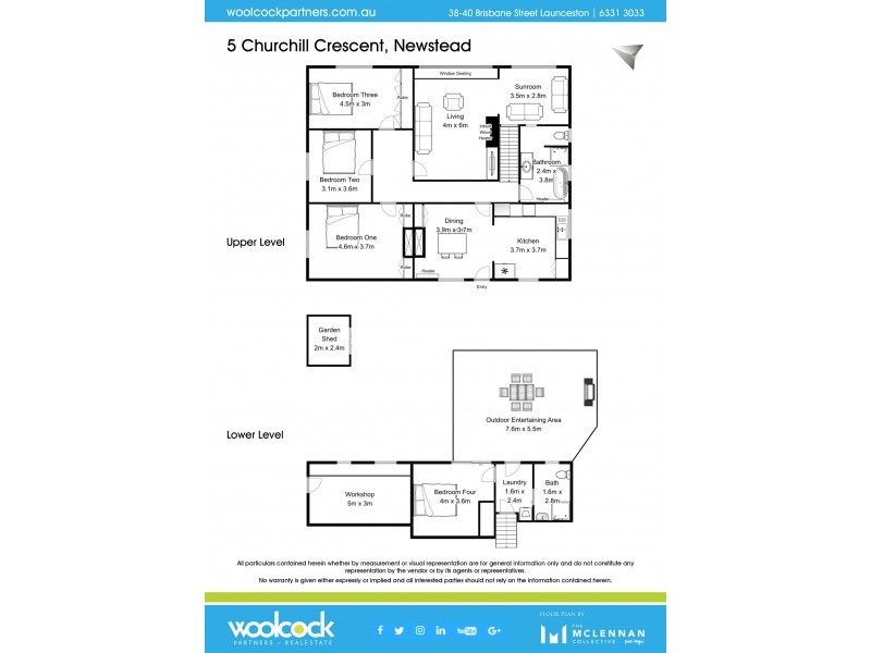 5 Churchill Crescent, Newstead TAS 7250 Floorplan