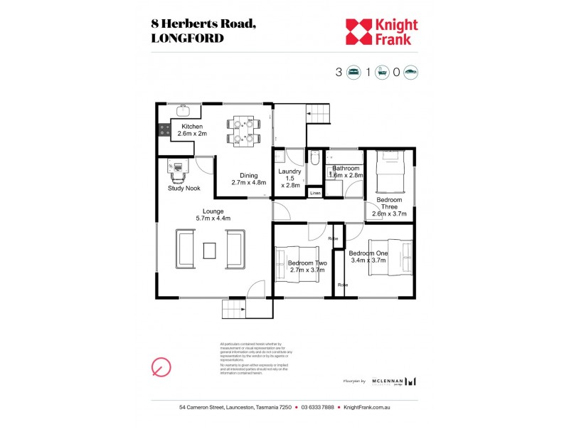 8 Herberts Road, Longford TAS 7301 Floorplan