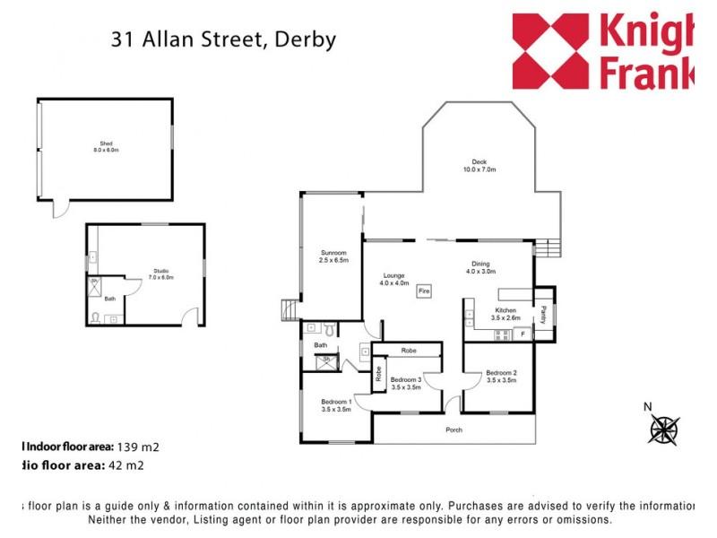 31 Allan Street, Derby TAS 7264 Floorplan