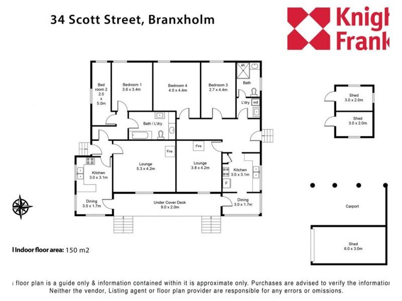 34 Scott, Branxholm TAS 7261 Floorplan