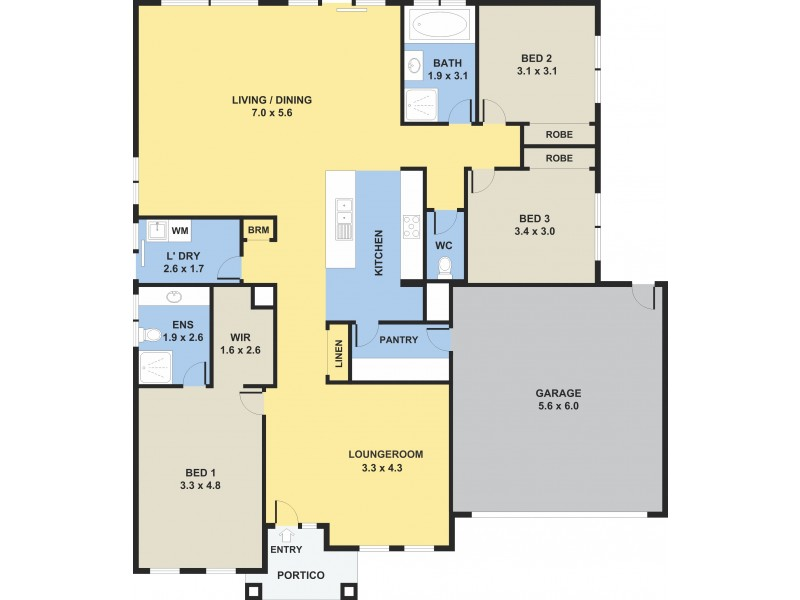 120 Huntington Drive, Craigieburn VIC 3064 Floorplan