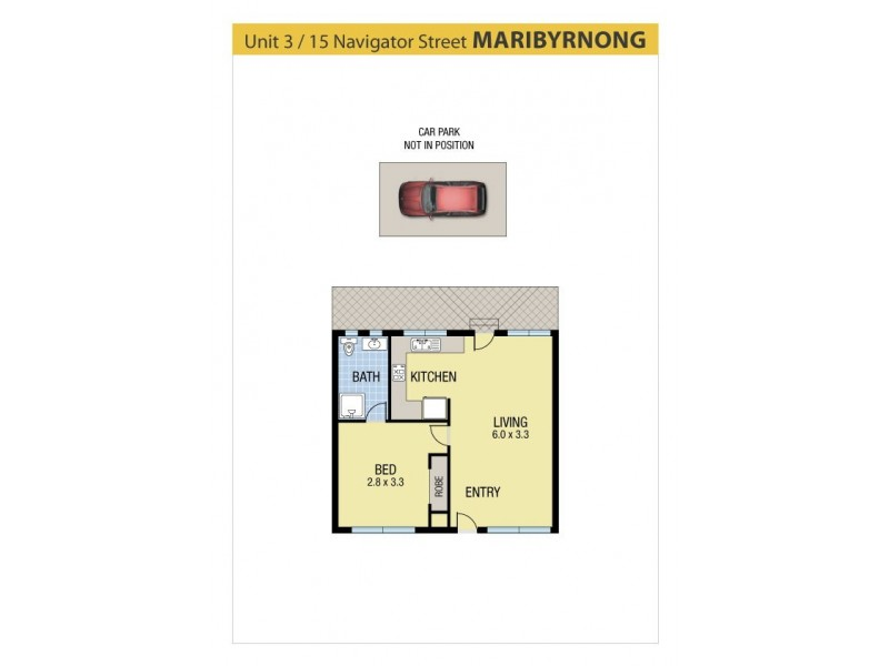 3/15 Navigator Street, Maribyrnong VIC 3032 Floorplan