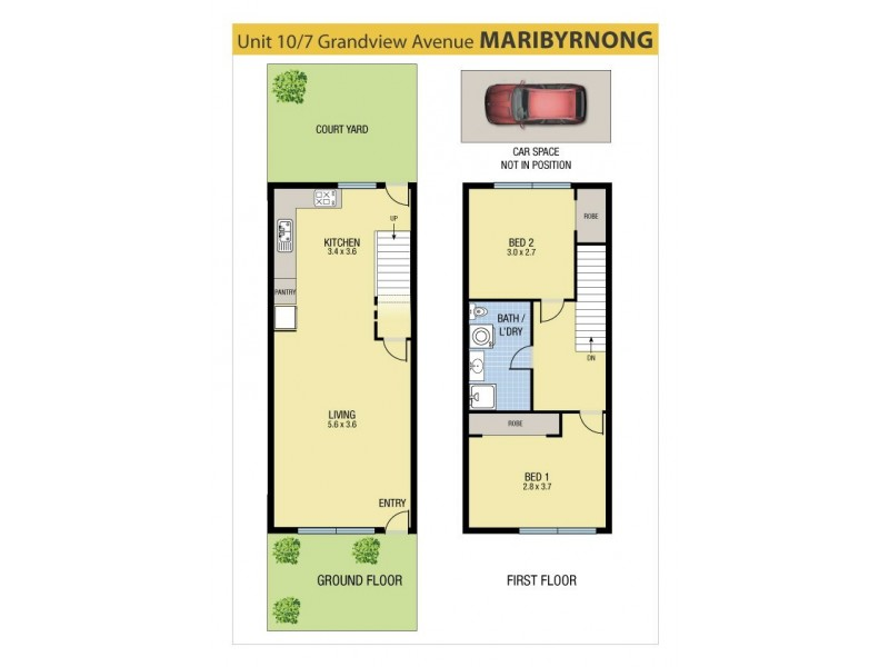 10/7 Grandview Avenue, Maribyrnong VIC 3032 Floorplan