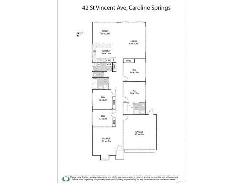 42 St Vincent Way, Caroline Springs VIC 3023 Floorplan