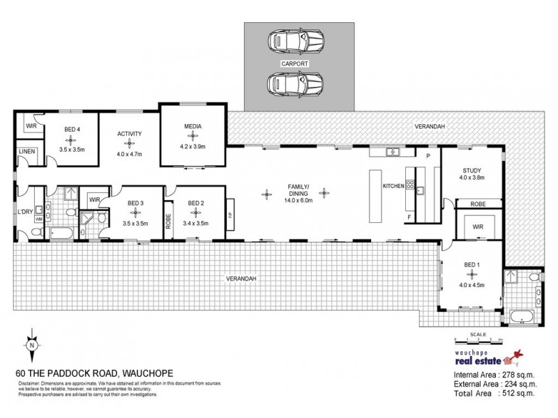 60 The Paddock Road, Wauchope NSW 2446 Floorplan