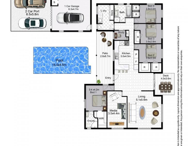 3 Bartholomew Court, Cooroy QLD 4563 Floorplan