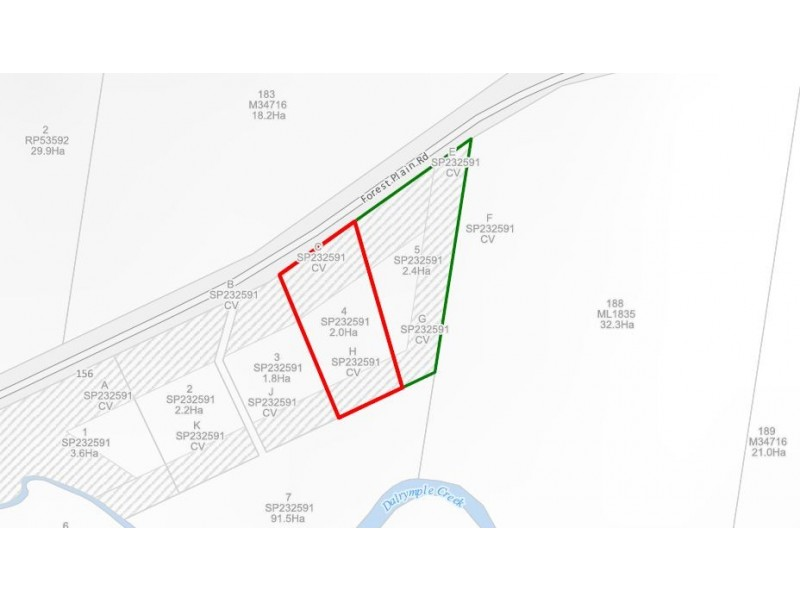 Lots 4 and 5 Forest Plain Road, Allora QLD 4362