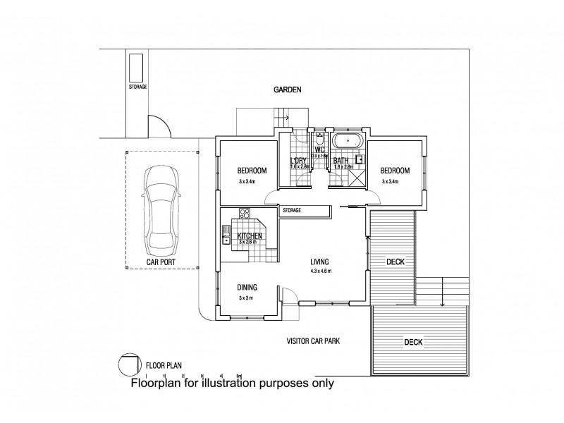 3/36 Queens Parade, Kingston TAS 7050 Floorplan