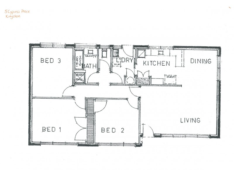 5 Cypress Place, Kingston TAS 7050 Floorplan