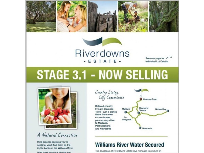 Lot 308 Riverdowns Estate, Clarence Town NSW 2321