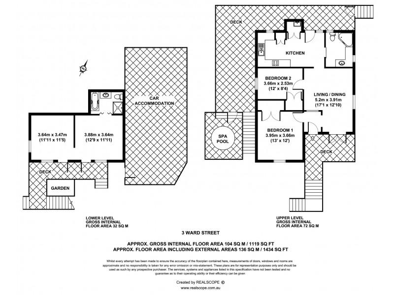 3 Ward Street, Bardon QLD 4065 Floorplan