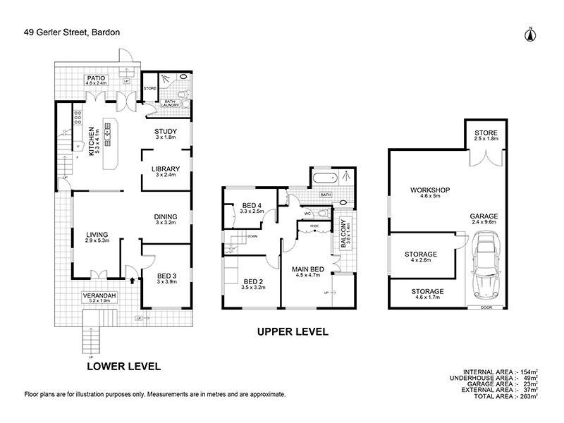 49 Gerler Street, Bardon QLD 4065 Floorplan